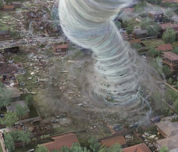 3D graphic illustration of tornado