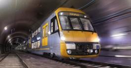 Double decker train in tunnel