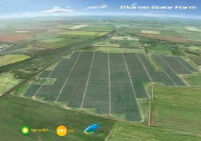 view of farm land with solar panel fields