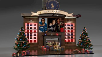 Ralph Lauren Polo Christmas Display