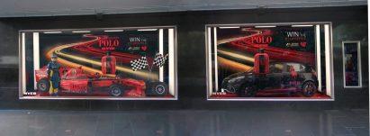 In-situ Ralph Lauren Formula One Melbourne Display Windows