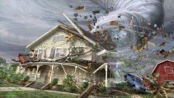 Tornado hitting house